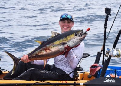 tuna on popper from kayak