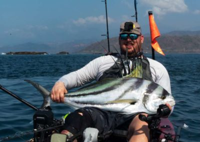 roosterfish from kayak at Los Buzos (1)